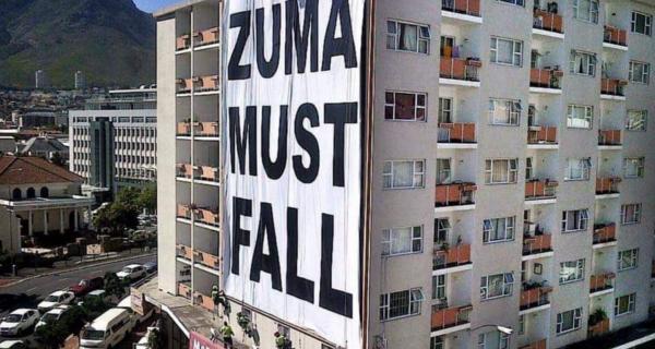 """Zuma Must Fall"" banner is illegal: city"